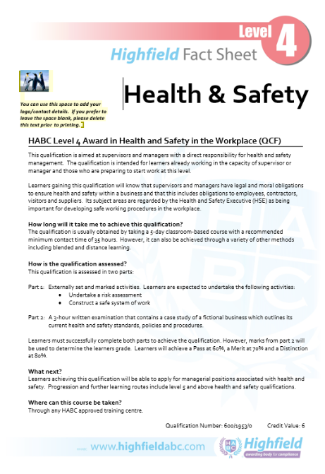 work health and safety course