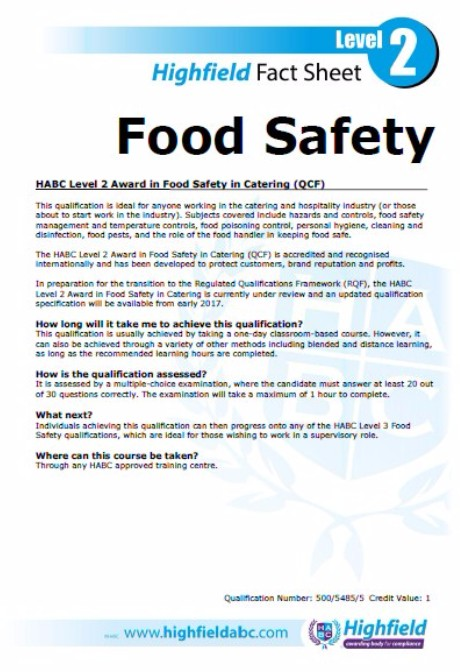 Level 2 Food Safety